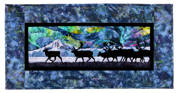 Aurora Nights: Across the Flats Individual Wallhanging