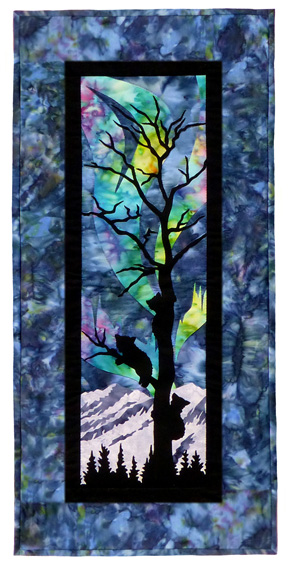 Aurora Nights: From the Treetops Individual Wallhanging