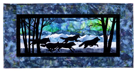 Aurora Nights: Thru the Forest Individual Wallhanging\
