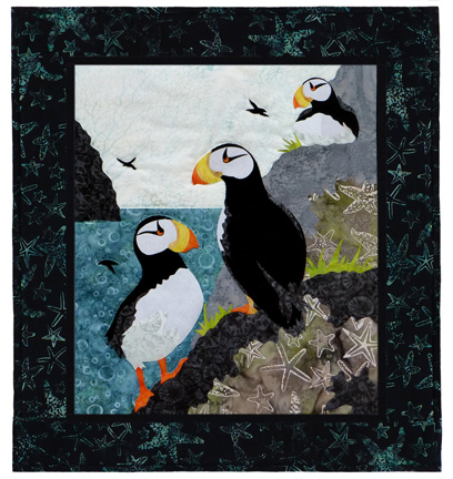 Maritime's Most Wanted: Horned Puffin Individual Wallhanging